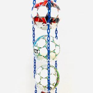 1 stk BallOnWall Hanger Fodboldholder til 4 fodbolde - Blå