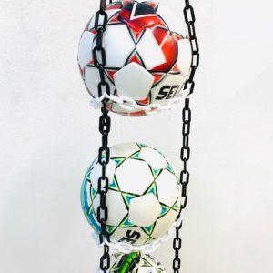 1 stk BallOnWall Hanger Fodboldholder til 4 fodbolde - Sort