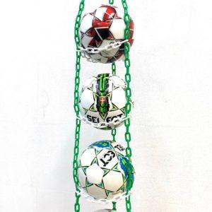 1 stk BallOnWall Hanger Fodboldholder til 4 fodbolde - Grøn