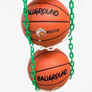 1 stk BallOnWall Hanger boldholder til 4 Basketbolde - Grøn